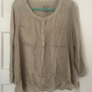 Chico's tan button blouse